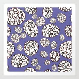 Purple conglomerate Art Print