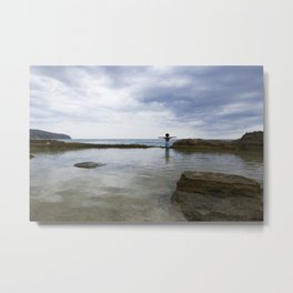 stormy day at the sea- ocean photography- travel photography Metal Print