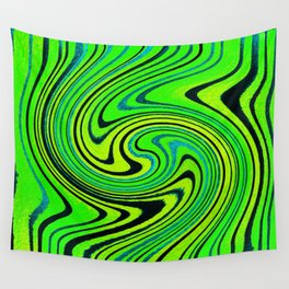 Lemon Lime Groove Watercolor Wall Tapestry