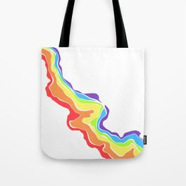 Rainbow Stripe 13 Tote Bag