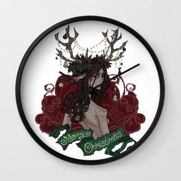 NIGHT ELF CHRISTMAS Wall Clock