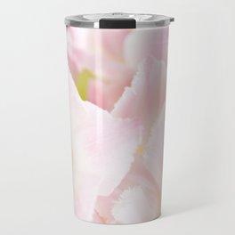 Light pink tulip macro inside Travel Mug