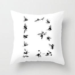 13 Flies Throw Pillow