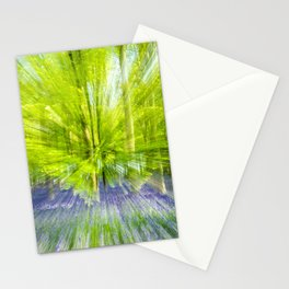Rushing through thebluebells Stationery Cards