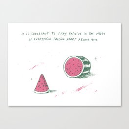 Watermelon Optimism Canvas Print