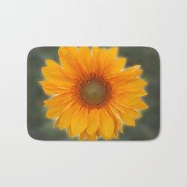 Single Sunflower Bath Mat