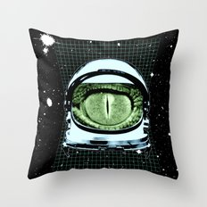 Astro Reptoid Throw Pillow