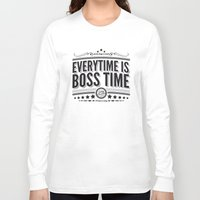 springsteen Long Sleeve T-shirts featuring Every time is Boss time (Springsteen tribute) by My Brave Face