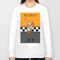 fifth element Long Sleeve T-shirts featuring What Time is It? Fifth Element Time Multipass!  by maz layley