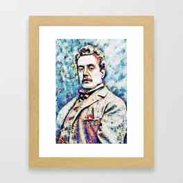 Giacomo Puccini (1858 – 1924) digitized photography Framed Art Print