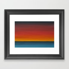 Sea Sunset Meditation Beach Painting Framed Art Print