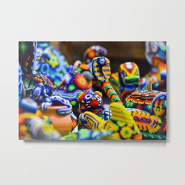 Colorful Mexican Alebrije Art Metal Print