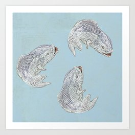 The fish are jumpin' Art Print