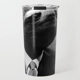Gentleman Sloth smoking a cigarette Travel Mug