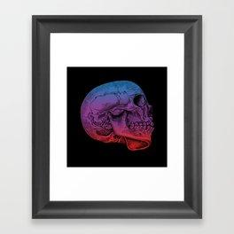 Rainbow Skull Joy Framed Art Print