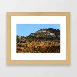 Grandfather Mountain in the Fall Framed Art Print