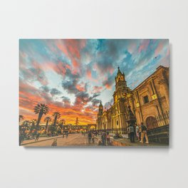 Arequipa At Sunset Metal Print