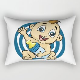 IT S A BOY Baby Birth funny cute happy gift comic Rectangular Pillow