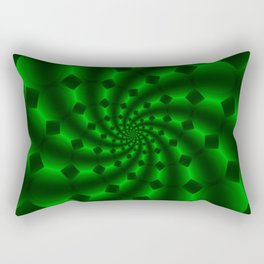 Tess Fractal in Magical Emerald Green Rectangular Pillow