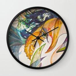 Merging Face Wall Clock
