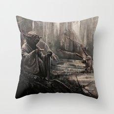 Yoda on Dagobah Throw Pillow