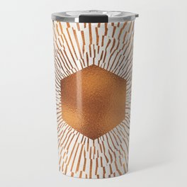 Geometric copper sun Travel Mug