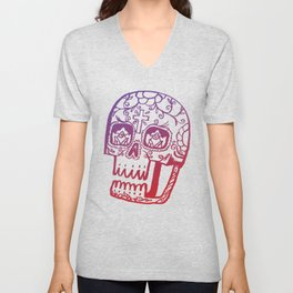 Day of the Deads - colored Unisex V-Neck