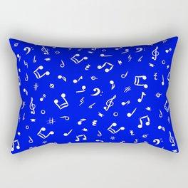 Music Notes & Symbols Royal Blue  Rectangular Pillow
