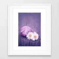 daisies Framed Art Prints featuring DAISIES by INA FineArt
