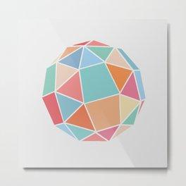 Polyhedron Metal Print