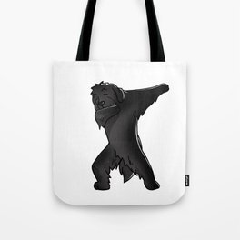 Funny Dabbing Newfoundland Dog Dab Dance Tote Bag
