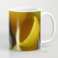 pasta Mugs featuring Colorful Pasta  by Tanja Riedel