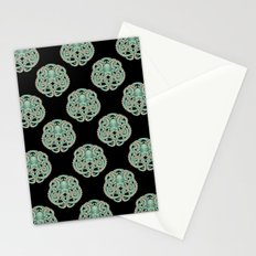 Octopus Emblem Green Stationery Cards