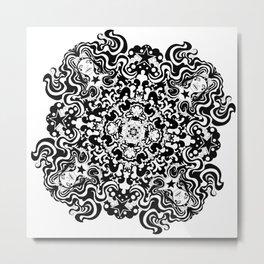 Celestial Star Girl Line Art Metal Print