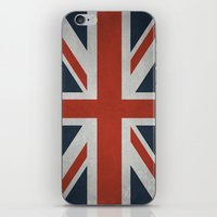 union jack iPhone & iPod Skins featuring Union Jack by Tom Schoffelen
