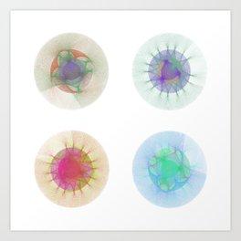 Orbital Mandalas 2x2 Array #1 Astronomy Print Wall Art Art Print