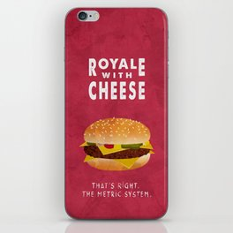 Pulp Fiction - royale with cheese iPhone Skin