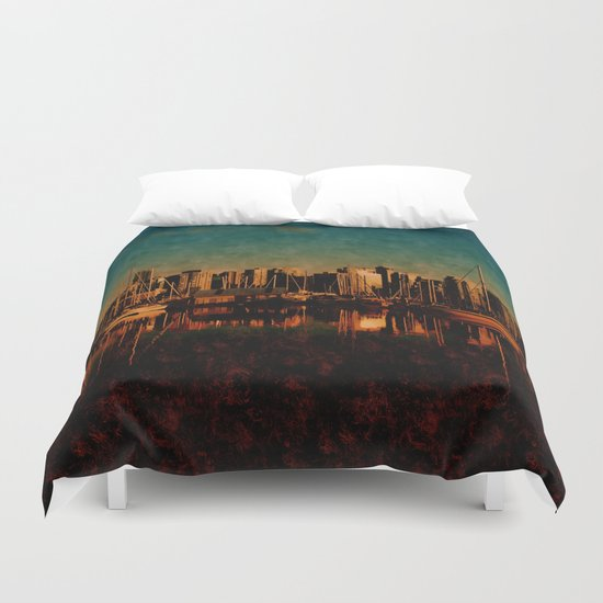 Painted City Duvet Cover