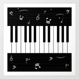 Piano Background - 06 Art Print