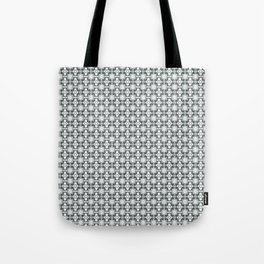 grey basket weave Tote Bag