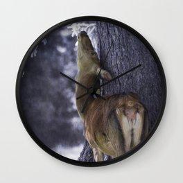 fawn in the mountain Wall Clock