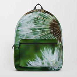 Dewy Dandelion Seeds Photography Print Backpack