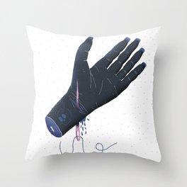 Weird dream about a needle Throw Pillow