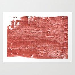 Brick red nebulous wash drawing paper Art Print