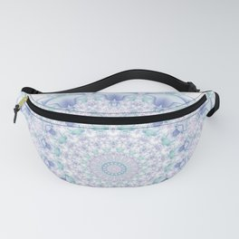 Purple, Blue, and Green Pastel Mandala Fanny Pack