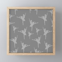 Grey Ballerinas Framed Mini Art Print