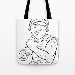 Stowaway Pirate - ink Tote Bag
