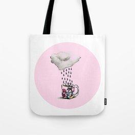 Pink Rain Coffee Tote Bag