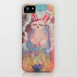 Namaste Bunny iPhone Case