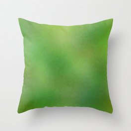 Color gradient and texture 67 green Throw Pillow